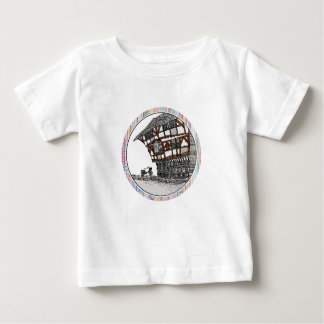 Vintage Illustrated English Building Logo Baby T-Shirt