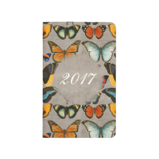 Vintage Illustration Butterflies Custom Notebook
