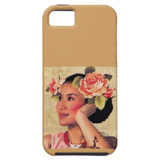 Vintage Illustration Chinese Woman Tough iPhone 5 Case