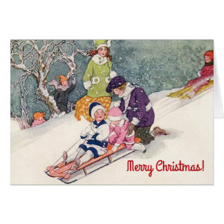 Vintage Illustration Christmas Card
