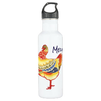 Vintage illustration farm animal design featuring 710 ml water bottle