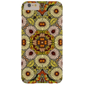 Vintage Illustration Flowers Butterflies Pattern Barely There iPhone 6 Plus Case