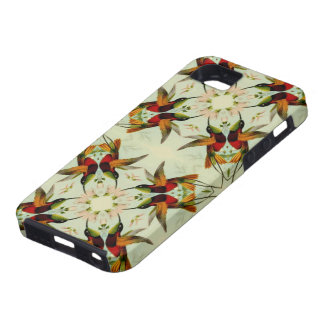 Vintage Illustration Hummingbirds and Flowers iPhone 5 Cover