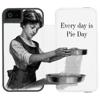 Vintage illustration of a lady baking incipio watson™ iPhone 5 wallet case