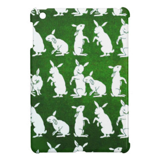 Vintage Illustration of Bunnies on Green Covers For iPad Mini