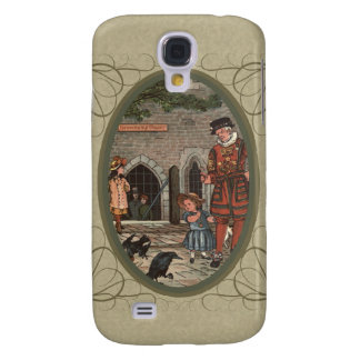 Vintage illustration of children and a beefeater galaxy s4 case