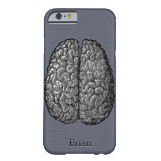 Vintage Illustration of Human Brain Barely There iPhone 6 Case