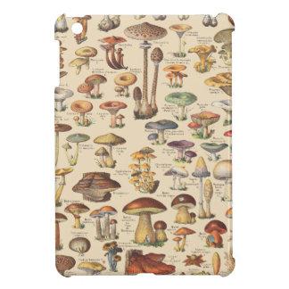 Vintage illustration of mushrooms case for the iPad mini