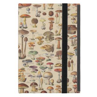 Vintage illustration of mushrooms iPad mini case