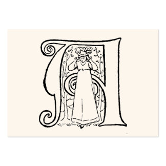Vintage Illustration of the Letter A Pack Of Chubby Business Cards