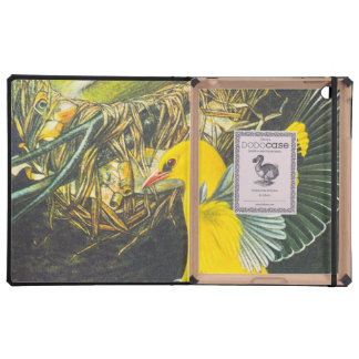 Vintage Illustration Of Yellow Birds iPad Cases