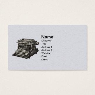 Vintage Illustration Old Fashioned Typewriter Business Card