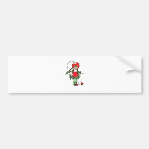 Vintage Illustration ~ Radish Girl Bumper Stickers