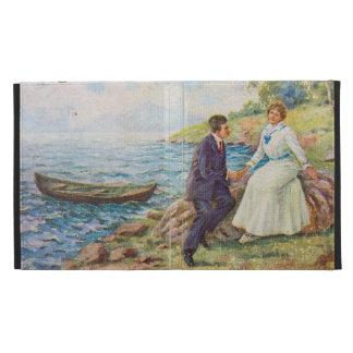 Vintage Illustration Romantic Couple iPad Folio Cover
