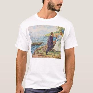 Vintage Illustration Romantic Couple T-Shirt