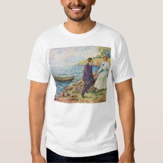 Vintage Illustration Romantic Couple Tshirt