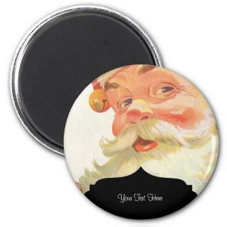 Vintage Illustration  Santa Claus 6 Cm Round Magnet