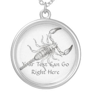 Vintage Illustration Scorpion Necklace