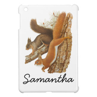 Vintage Illustration, Squirrels In A Tree iPad Mini Cases