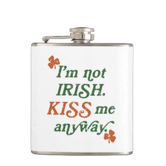 Vintage I'm not Irish Kiss Me Anyway Hip Flask