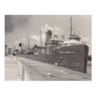 Vintage Im Percival Roberts Jr. Ore Boat Freighter Postcard