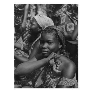 Vintage image, Africa, Lady from Togo Postcard