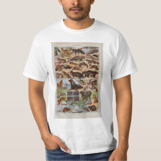 Vintage image, Animals with hair or fur T-Shirt