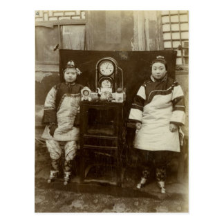 Vintage image,Chinese tea girls Postcard