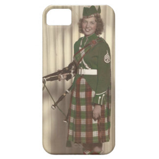 Vintage image girl bagpiper on iphonecase iPhone 5 cover