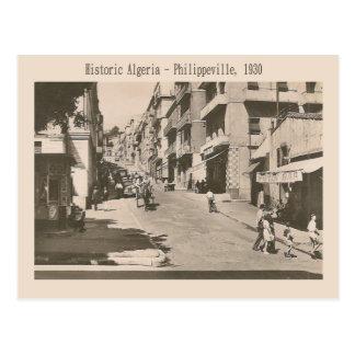 Vintage image, Historic Algeria Philippeville 1930 Postcard