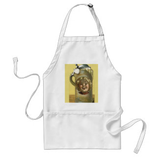 Vintage image,Humour, Good head on the beer Standard Apron