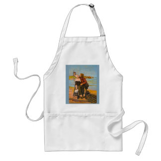 Vintage image, Kiss on the beach Standard Apron