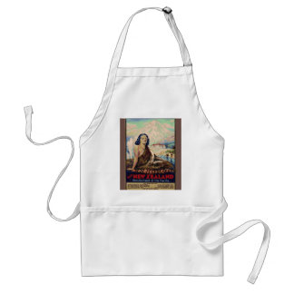 Vintage image,New Zealand travel poster Standard Apron