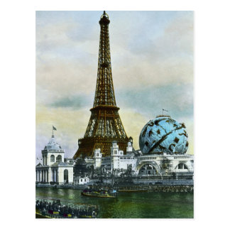 Vintage Image of Paris and Eiffel Tower Post Card