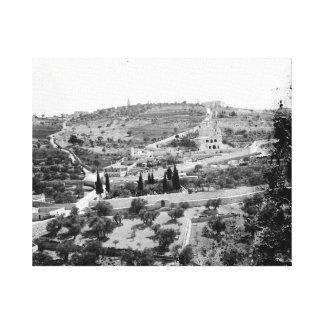 Vintage Image of the Mount of Olives, Jerusalem Canvas Print