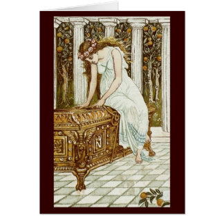 Vintage Image - Pandora and the Forbidden Box Card
