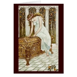 Vintage Image - Pandora and the Forbidden Box Greeting Card
