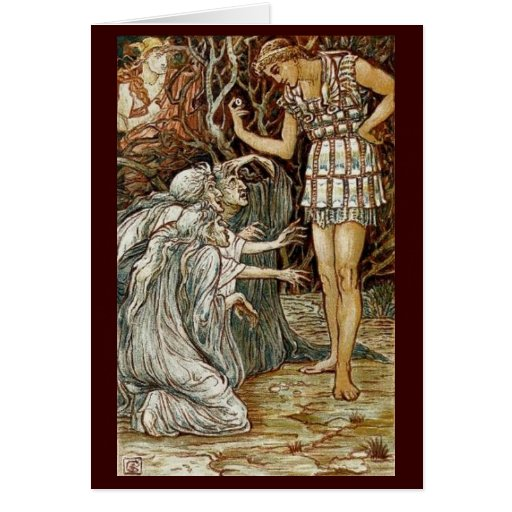Vintage Image - Perseus and the Graeae Cards