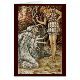 Vintage Image - Perseus and the Graeae Greeting Card