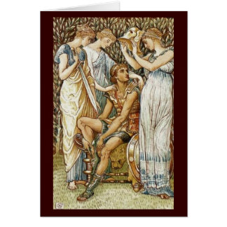 Vintage Image - Perseus Arming for his Quest Card