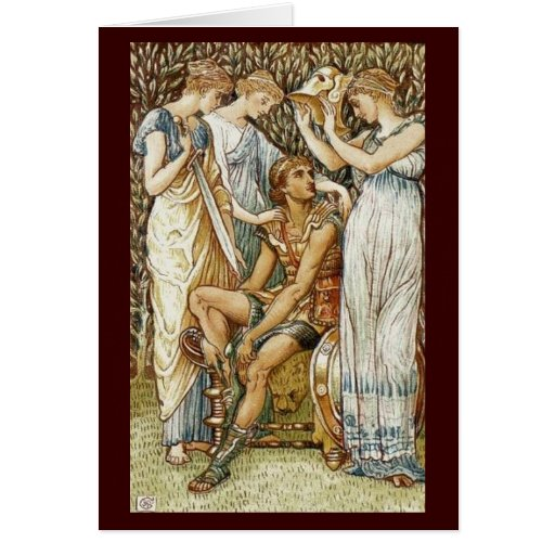 Vintage Image - Perseus Arming for his Quest Cards