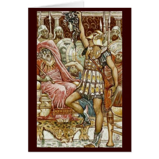 Vintage Image - Perseus Delivering Medusa s Head Greeting Card
