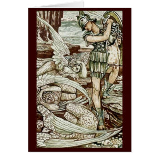 Vintage Image - Perseus Slaying Medusa Greeting Card