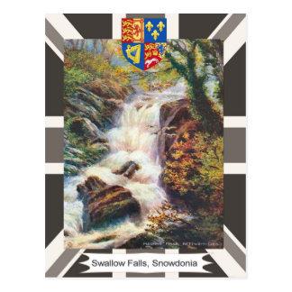 Vintage image, Swallow Falls, Snowdonia Postcard