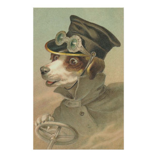 Vintage Image - The Doggie Driver Posters