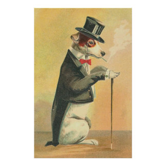 Vintage Image - The Doggie In High Society Poster