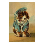Vintage Image - The Doggie Of The Sea Poster