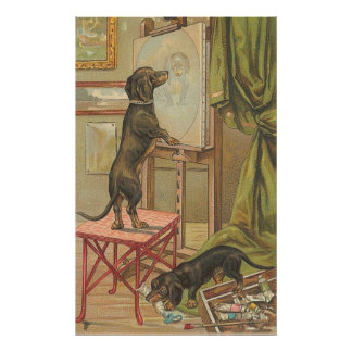 Vintage Image - The Doggie Portrait Poster