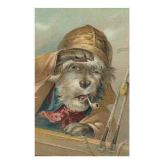 Vintage Image - The Doggie Sailor Poster