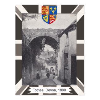 Vintage image Totnes Devon 1890 Post Card